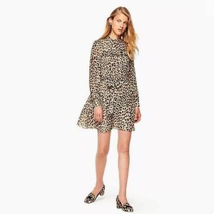 Kate Spade Long sleeves Leopard Print Minidress